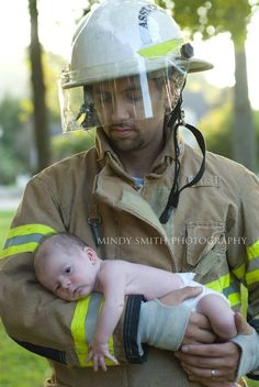 Newborn firefighter photography