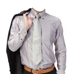 シルバーワイシャツビジネスマン