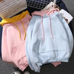 Harajuku Hoodie ●Size: M Length chest L Length chest XL Length chest XXL Length chest ●Material:Cotton ●Color:Pink,Blue,White ●Process time: business days●Shipping time: business days to United States, weeks to other co Teen Fashion Outfits, Outfits For Teens, Trendy Outfits, Kawaii Fashion, Cute Fashion, Pastel Fashion, Cute Comfy Outfits, Cool Outfits, Ulzzang Fashion