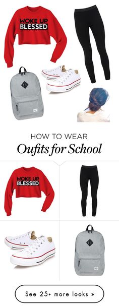 """Cute school outfit#2"" by aalleexxiiss88 on Polyvore featuring мода, Converse, Peace of Cloth и Herschel Supply Co."