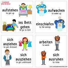 German Grammar, Teaching English Grammar, German Language Learning, German Words, Study German, Learn German, Learn English, Deutsch Language, Kids Schedule