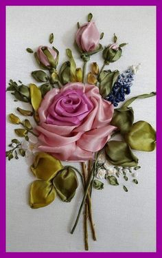 Wonderful Ribbon Embroidery Flowers by Hand Ideas. Enchanting Ribbon Embroidery Flowers by Hand Ideas. Ribbon Embroidery Tutorial, Hand Embroidery Flowers, Silk Ribbon Embroidery, Hand Embroidery Designs, Embroidery Patterns, Embroidery Supplies, Embroidery Thread, Embroidery Tattoo, Ribbon Art