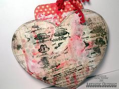 Mixed Media Tag Pouch by Kate's Scrap Yard forArtistic Outpost: Hats Background