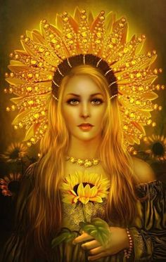 """Sól (Old Norse """"Sun"""") is the a figure in Germanic mythology. She is the Sun personified. In Norse mythology, Sól is described in the Poetic Edda, written in the century from earlier sources, and the Prose Edda, written in the century by Snorri Sturluson. Norse Goddess, Goddess Art, Norse Mythology, Moon Goddess, Sacred Feminine, Divine Feminine, Image Tumblr, Gifs, Asatru"""