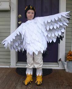 Jenny: Halloween Costumes 2012 by Stumbles & Stitches, via Flickr...Peregrine Falcon costume for D