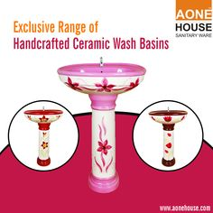 Buy the exclusive range of Handcrafted Ceramic Wash Basins and create a refreshing atmosphere in your house at http://www.aonehouse.com/hand-craft-series/.