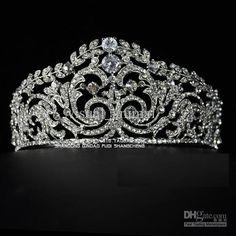 Stunning Big Size Rinestore Princeness Crown Bridal Tiara Crown ...