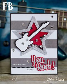 (I) (L)ove (D)oing (A)ll Things Crafty!: You Rock - Star Shaker Card #SVG
