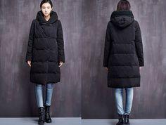 Lange Mäntel - Frauen-Winter Thick Daunenmantel mit Kapuze - ein Designerstück von Jean-Wang bei DaWanda