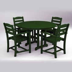 All Garden Benches - Polywood La Casa Cafe 5 Piece Dining Set, $1,349.95 (http://www.allgardenbenches.com/polywood-la-casa-cafe-5-piece-dining-set/)