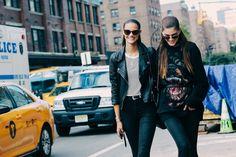 Off-duty models at Fashion Week spring-summer 2016