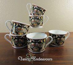SIX Villeroy & Boch Intarsia Bone China Tea Cups #VilleroyBoch