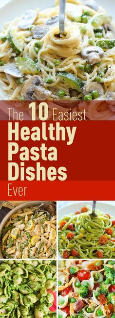 Need more healthy meal recipes that you can make in less than 30 minutes? The good news is that even when you're eating healthy you can still eat pasta. This list includes the best pasta recipes that are delicious and healthy. Just make sure to cook with Wheat Pasta Recipes Healthy, Healthy Pasta Dishes, Pasta Side Dishes, Healthy Pasta Recipes, Healthy Pastas, Meal Recipes, Cooking Recipes, Best Pasta Dishes, Zuchinni Recipes