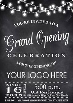 Printable Grand Opening Celebration invitation by DigitalLine …