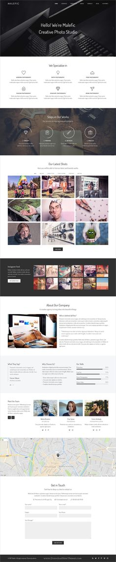 Mala is clean and modern #design 2in1 responsive #bootstrap template for onepage #agency, blog or portfolio showcase website download now..