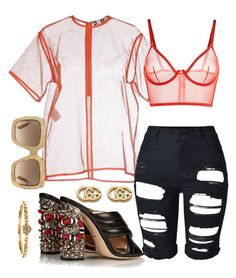 """""""Saucey"""" by sheekshat on Polyvore featuring Gucci"""