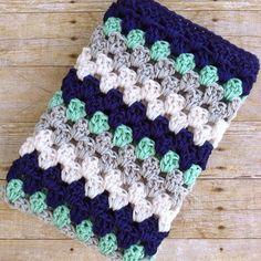 Baby Blanket Crochet - Crochet Baby Blanket - Baby Afghan - Nautical Nursery - Baby Boy - Christian Baby Gifts - Navy Mint Grey White