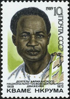 """beautone: """"A Soviet postage stamp of Ghanaian leader from 1952 to 1966, Kwame Nkrumah. Nkrumah was a profound supporter of African socialism and pan-Africanism. ausetkmt """""""