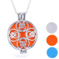 Aromatherapy Essential Oil Locket Necklace