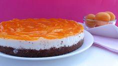 Torta Fredda di Yogurt e Albicocche/ Torta Gelada de iogurte e Damascos | Kitchen Brasita