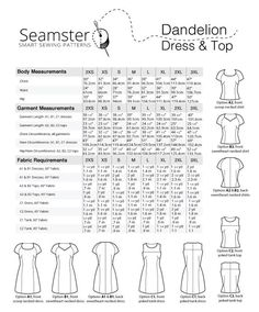 Purchase Seamster Patterns 1401 Dandelion dress & top Downloadable Pattern and read its pattern reviews. Find other Dresses, Tops, sewing patterns.