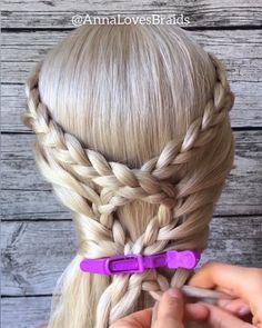 Braided Hairstyles For Teens, Braided Hairstyles Tutorials, Funky Hairstyles, Rose Braid, Hair Upstyles, Braids For Long Hair, Hair Videos, Hair Day, Hair Looks