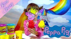 Peppa Pig Play Doh видео для детей про игрушки Свинка Пеппа из Плей до f...