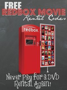 This page always lists the most up to day Free Redbox Movie Rental Codes, just check this page before you rent a DVD at Redbox, there are new codes almost every week. You could literally never Pay for DVDs again if you follow this page and use all the free codes!
