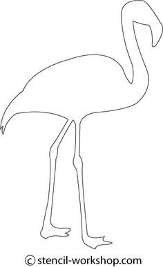 Flamingo pattern Use the printable outline for crafts creating