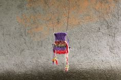 Handwoven purple pendant indian style by NataliesWunderland, $30.00