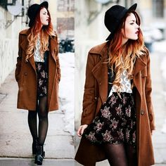 Luanna Perez boho vintage outfit for cold weather  So edgy but still feminine