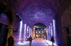 [Photograph via Phillips] Second: Clink Street tunnel, London, with lighting design by Halo Lighting. [Photograph via Urban . Facade Lighting, Exterior Lighting, Lighting Design, Led Lighting Solutions, Showcase Design, Light Art, City Lights, Street, Bridge