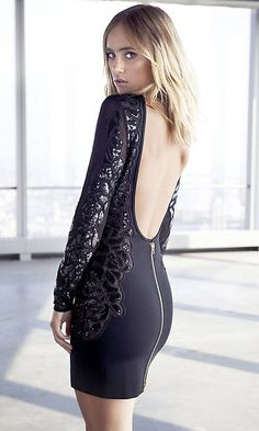 Express Edition Beaded Low Back Dress | Love new Express Edition line