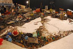 Foto mostra a montagem da imagem que faz parte da abertura da nova novela das 8 da TV Globo, 'Passione'.