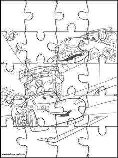 Printable jigsaw puzzles to cut out for kids Cars 43