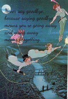 Never say goodbye...