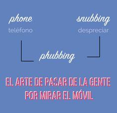 ¿Qué es #phubbing?: pasar de la gente por mirar el móvil.