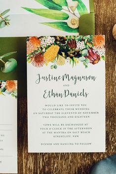 Cheapest Wedding Venues Near Me Cheap Wedding Invitations, Engagement Party Invitations, Save The Date Invitations, Custom Wedding Invitations, Wedding Stationery, Wedding Invitations Australia, Australian Native Flowers, Cheap Wedding Venues, Wedding Paper