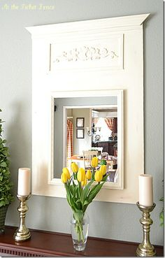Trumeau Mirrors!  Great ideas on how to make one