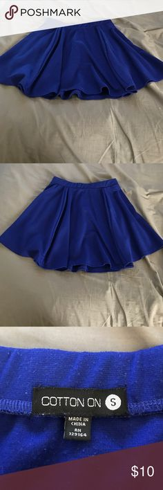 🌹MOVING SALE🌹 blue skater skirt Super soft and comfy blue skater skirt! Perfect for any time of year Cotton On Skirts Circle & Skater