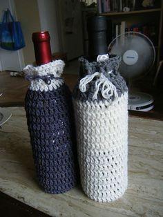 Wine bottle cozy pattern