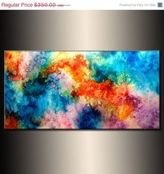 Large Abstract Painting Original Abstract by newwaveartgallery, $280.00