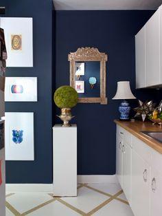 Taubenblau Gemälde Wandfarbe Bilderrahmen