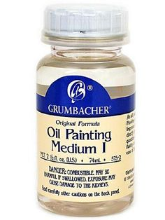 Grumbacher Medium I for Oil Paintings 212 Jar 5752 ** Read more at the image link.