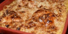Ingredients 1 box Uncle Ben's Long Grain Wild Rice (original recipe) 1 can cream of mushroom soup 1 can cream of celery soup 1 can water (You can add another can of water for moister rice.) Chicken breasts or tenders How to