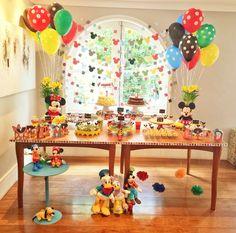 Festa Turma do Mickey DIY - Mesa do bolo