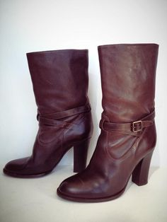 J Crew Brown Leather Boots Size 10 $129 onesavvydesign.com