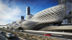 Metro station King Abdullah - Saudi Arabia - by Zaha Hadid