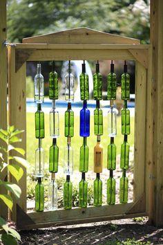 Wine Bottle Shelf Idea
