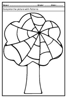 Art Project Pattern Art Trees Free Printable Coloring Pages, Free Printables, Fall Art Projects, Arbour Day, Crayon Art, Autumn Art, Suncatchers, Pattern Art, Adult Coloring